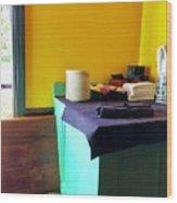 Sweet Corner Hues Wood Print