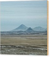 Sweet Grass Hills Pyramids Wood Print