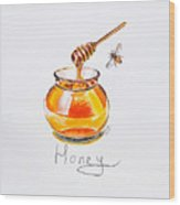 Sweet Honey Wood Print