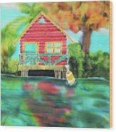 Sweet Island Home Wood Print