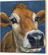 Sweet Jersey Cow Wood Print