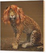 Sweet Lady Leopard Wood Print