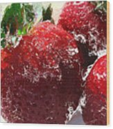 Sweet  Like A Chocolate Strawberry Wood Print by Colleen Kammerer