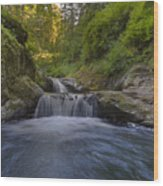 Sweet Little Waterfall Wood Print