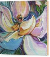 Sweet Magnoli Floral Abstract Wood Print