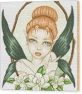 Sweet Magnolia Fae Wood Print
