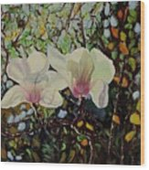 Sweet Magnolias Wood Print