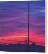 Sweet Nebraska Sunset 004 Wood Print