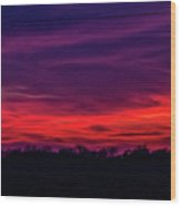 Sweet Nebraska Sunset 005 Wood Print