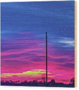 Sweet Nebraska Sunset 006 Wood Print