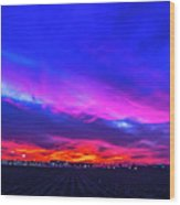 Sweet Nebraska Sunset 001 Wood Print