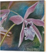 Sweet Orchid Wood Print