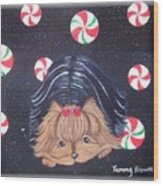 Sweet Treats For Yorkie Wood Print