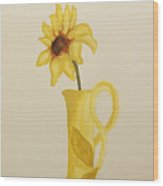 Sweetest Sunflower Wood Print