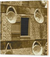 Sweetgrass Baskets And Slave Shack Wood Print