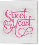 Sweetheart Wood Print by Cindy Garber Iverson