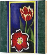 Sweetheart Tulips Wood Print