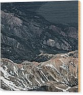 Sweetwater Mountains On California Nevada Border Aerial Photo Wood Print