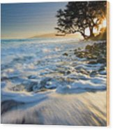 Swept Out To Sea Wood Print by Mike  Dawson