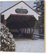 Swift River Bridge Conway New Hampshire Wood Print