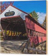 Swift River Bridge Wood Print