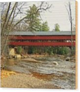 Swift River Covered Bridge Wood Print