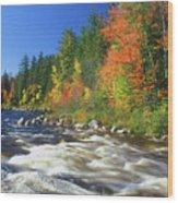 Swift River White Mountains Wood Print