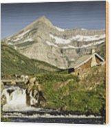Swiftcurrent Falls Glacier Park 1 Wood Print