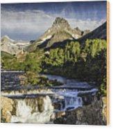 Swiftcurrent Falls Glacier Park 3 Wood Print
