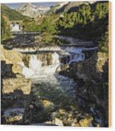Swiftcurrent Falls Glacier Park 4 Wood Print