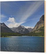 Swiftcurrent Lake - Glacier Np Wood Print