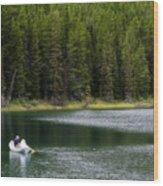 Swiftcurrent Lake Many Glacier Montana Wood Print