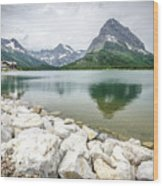 Swiftcurrent Lake Wood Print