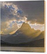 Swiftcurrent Lake Sundown Glacier N P Wood Print