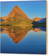 Swiftcurrent Morning Reflections Wood Print