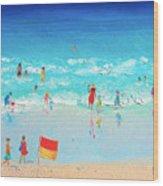 Swim Day Wood Print
