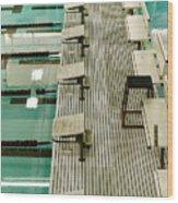 Swim Lanes Wood Print