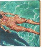 Swimmer 21 Wood Print