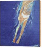 Swimmer Ascending Wood Print