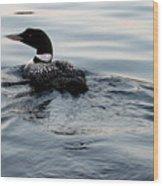 Swimming Away Wood Print