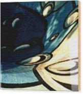 Swimming Pool Mural Detail 2 Wood Print
