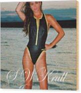 Swimsuit Girl Ad Wood Print