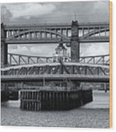 Swing Bridge Wood Print