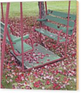 Swing Set Wood Print