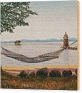 Swingin On Sebago Wood Print