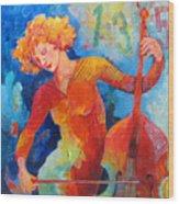 Swinging At Club 135 Wood Print by Susanne Clark