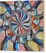 Swirl 12 Wood Print