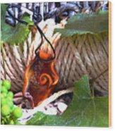 Swirl And Rope Wood Print
