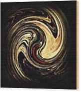 Swirl Design 2 Wood Print