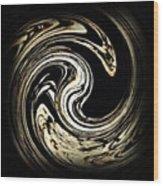 Swirl Design 3 Wood Print